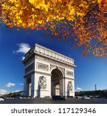 Famous Arc De Triomphe In...