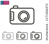 camera outline icon on white... | Shutterstock .eps vector #1171306372