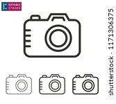camera outline icon on white... | Shutterstock .eps vector #1171306375