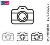 camera outline icon on white... | Shutterstock .eps vector #1171306378