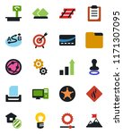 color and black flat icon set   ... | Shutterstock .eps vector #1171307095