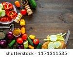 cooking vegetable stew concept. ... | Shutterstock . vector #1171311535