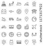 thin line vector icon set  ... | Shutterstock .eps vector #1171317922