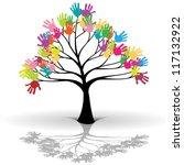 kids tree | Shutterstock . vector #117132922