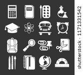 school education icons set... | Shutterstock . vector #1171331542