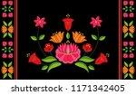hungarian folk pattern vector.... | Shutterstock .eps vector #1171342405