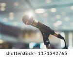 microphone in concert hall or... | Shutterstock . vector #1171342765