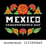 mexico independence day... | Shutterstock .eps vector #1171343665