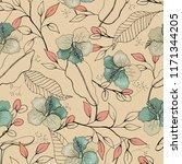 blooming  flowers. realistic... | Shutterstock .eps vector #1171344205