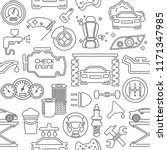 auto spare parts seamless...   Shutterstock .eps vector #1171347985
