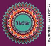 diwali festival greeting card...   Shutterstock .eps vector #1171349422
