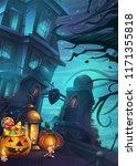 halloween background   vector... | Shutterstock .eps vector #1171355818