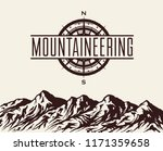 mountaineering and travelling... | Shutterstock .eps vector #1171359658
