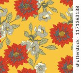 elegance pattern with flowers... | Shutterstock .eps vector #1171363138