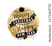 merry christmas. typography.... | Shutterstock .eps vector #1171363732