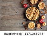 homemade apple pies on rustic... | Shutterstock . vector #1171365295