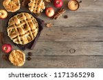 homemade apple pies on rustic... | Shutterstock . vector #1171365298