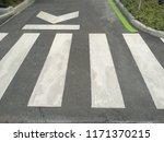 zebra crossing in the city   Shutterstock . vector #1171370215