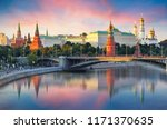 Moscow Kremlin And River In...