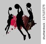 basketball splash team | Shutterstock .eps vector #117137275