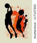 basketball splash team | Shutterstock .eps vector #117137302