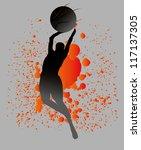 basketball splash team | Shutterstock .eps vector #117137305