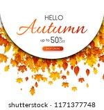 autumn 50  season sale....   Shutterstock .eps vector #1171377748