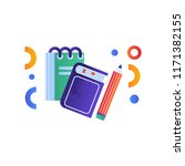 book  notebook and pencil... | Shutterstock .eps vector #1171382155