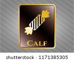 gold emblem or badge with... | Shutterstock .eps vector #1171385305