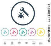 bug fixing flat color icons in... | Shutterstock .eps vector #1171385935