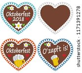 illustrated gingerbread hearts... | Shutterstock .eps vector #1171391278