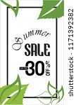 summer sale banner design   Shutterstock . vector #1171392382