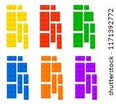 construction blocks plastic... | Shutterstock .eps vector #1171392772