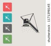 chain excavator   vector icon....