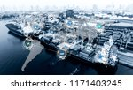 world map with logistic network ... | Shutterstock . vector #1171403245