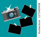 flat design camera photo and...   Shutterstock .eps vector #1171403458