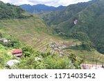 beautiful landscape at banaue...   Shutterstock . vector #1171403542