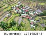 beautiful landscape at banaue...   Shutterstock . vector #1171403545