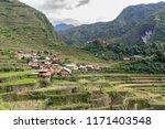 beautiful landscape at banaue...   Shutterstock . vector #1171403548