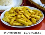 fired sweet potato at banaue ... | Shutterstock . vector #1171403668