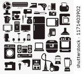 set of home appliance in... | Shutterstock .eps vector #1171403902
