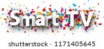 smart tv banner with colorful... | Shutterstock .eps vector #1171405645