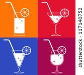cocktail glasses | Shutterstock .eps vector #117140752