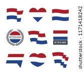 netherlands flag vector icons... | Shutterstock .eps vector #1171418242