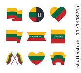 lithuania flag vector icons and ... | Shutterstock .eps vector #1171418245