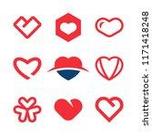 red hearts vector | Shutterstock .eps vector #1171418248