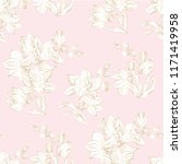 floral orchid seamless pattern... | Shutterstock .eps vector #1171419958