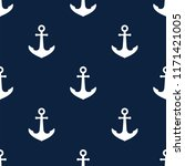 seamless pattern with anchors.... | Shutterstock .eps vector #1171421005