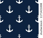 seamless pattern with anchors.... | Shutterstock .eps vector #1171421008