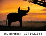 Silhouette Mahout On Asian...